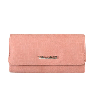 t tahari full bloom wallet clutch pink