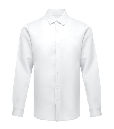 u my philippines makati linen long-sleeved dress shirt white