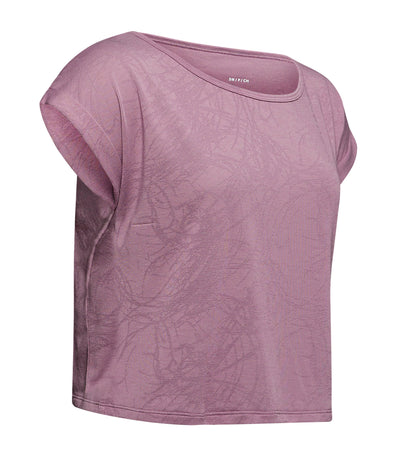 under armour ua perpetual short sleeved jacquard t-shirt purple