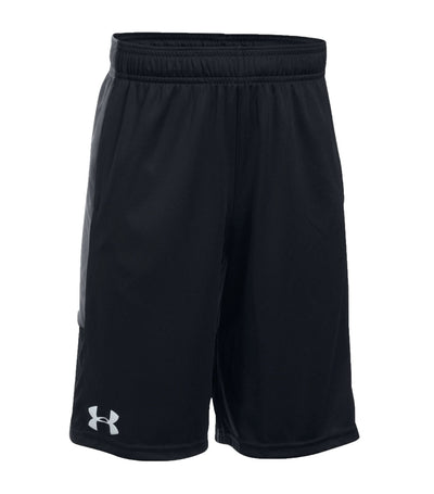 under armour black and graphite boys stunt shorts