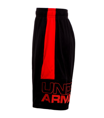 under armour black and red boys stunt shorts
