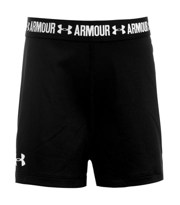 under armour black and white girls heatgear shorty