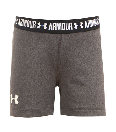 under armour carbon heather black and white girls heatgear shorty