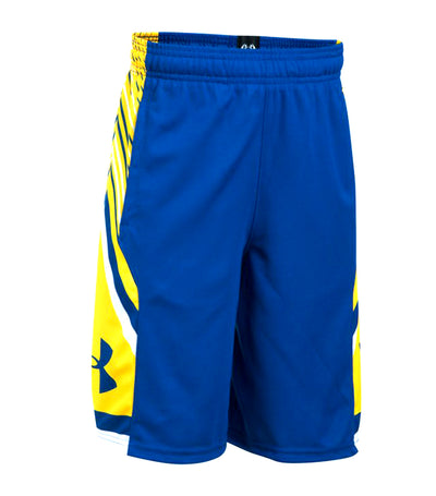 under armour royal blue and taxi yellow boys space the floor shorts