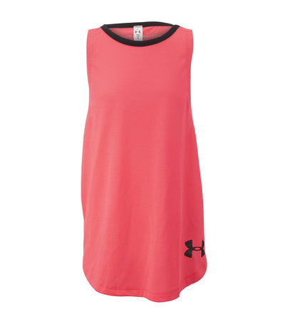 under armour youth girls threadborne play up tank penta pink and black