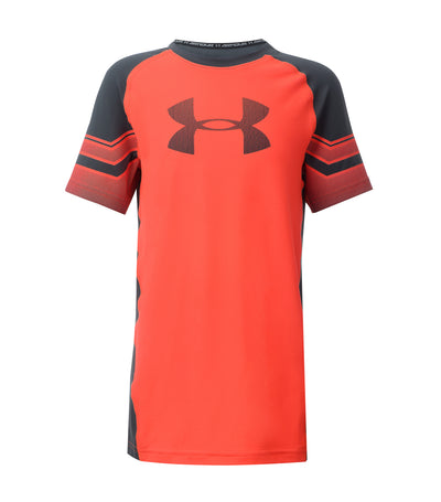 under armour red boys armour graphic short sleeves t-shirt