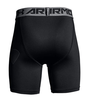 under armour black and graphite boys mid shorts