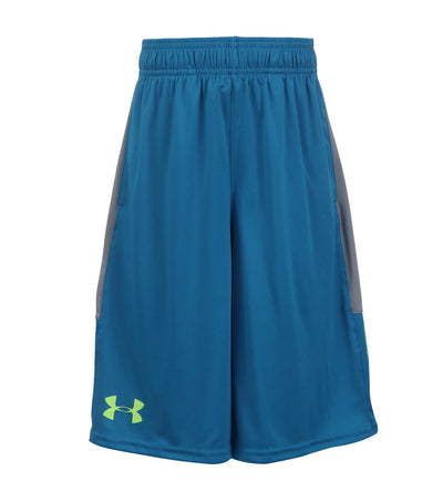 under armour blue and steel boys stunt shorts