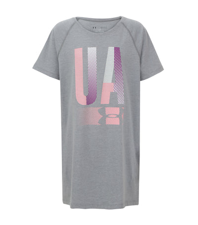 under armour steel light girls tiplex logo t-shirt