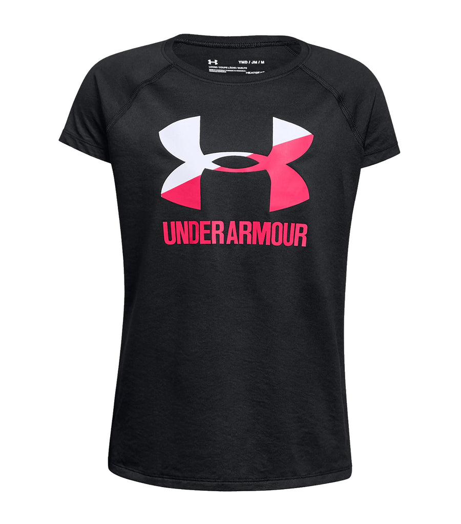 under armour black girls solid big logo