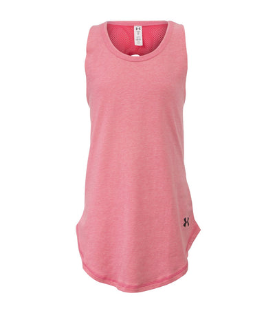 under armour youth girls strappy tank pink