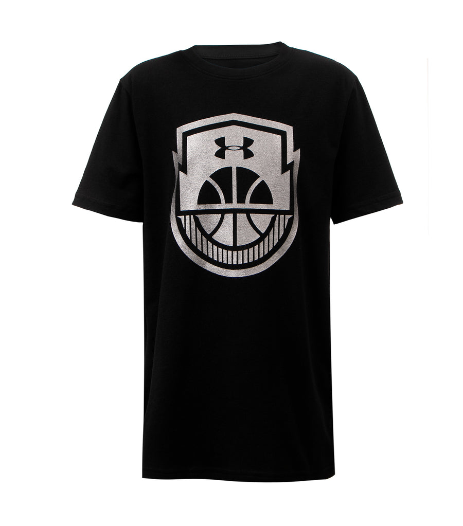 under armour black boys t-shirt basketball icon