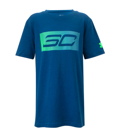 under armour blue boys sc logo t-shirt