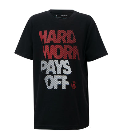 under armour boys black hardwork t-shirt
