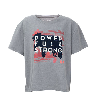 under armour gray girls powerful and strong t-shirt