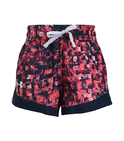 under armour pink girls novelty running shorts