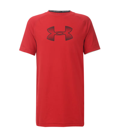 under armour red boys armour training t-shirt
