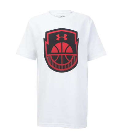 under armour white boys basketball icon t-shirt