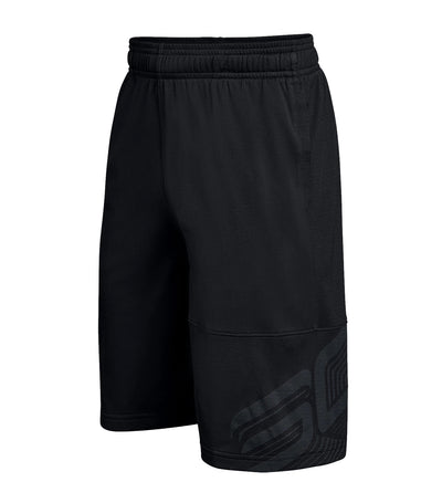 under armour black boys sc30 shorts