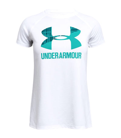under armour white girls solid big logo