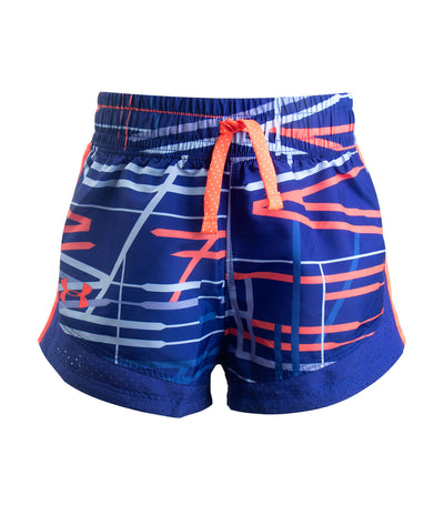 under armour blue girls novelty running shorts