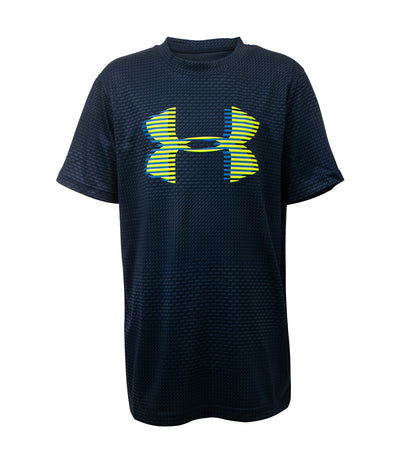 under armour blue boys tech big logo short sleeves t-shirt