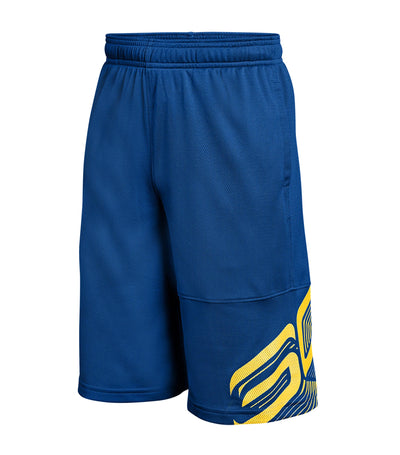 under armour blue boys sc30 shorts