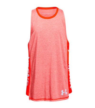 under armour orange girls threadborne tank