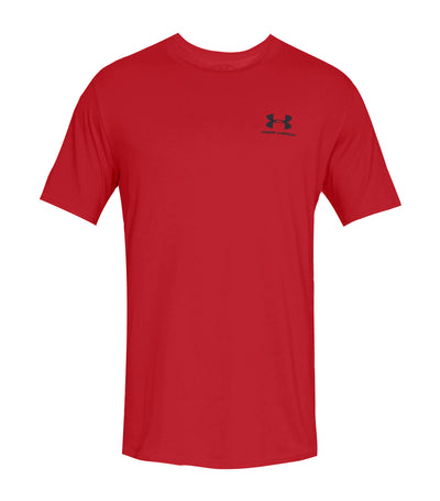 under armour ua sportstyle left chest t-shirt red