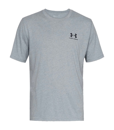 under armour ua sportstyle left chest t-shirt gray