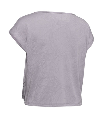 under armour ua perpetual short sleeved jacquard t shirt gray