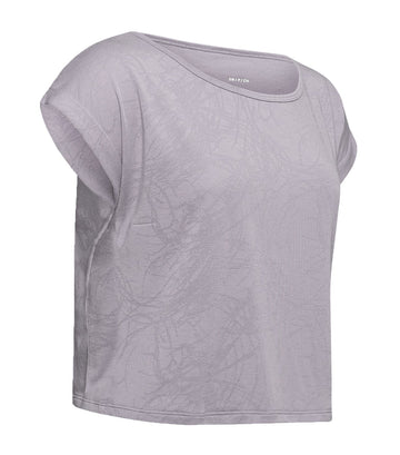 under armour ua perpetual short sleeved jacquard t-shirt gray