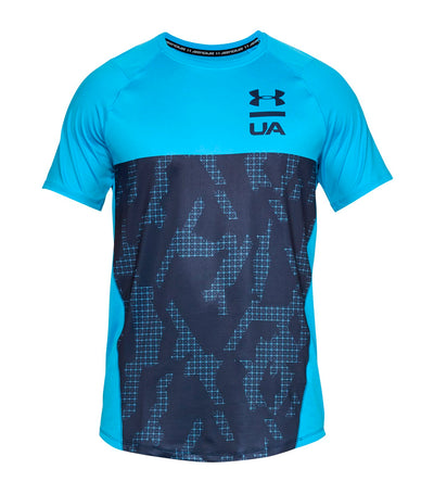 under armour ua mk-1 short-sleeved colorblock t-shirt blue
