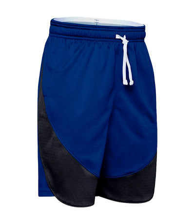 under armour youth sc30 shorts - royal blue and white