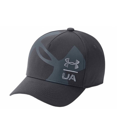 under armour youth billboard 3.0 cap - black and stealth gray
