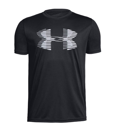under armour youth ua tech big logo solid t-shirt - black