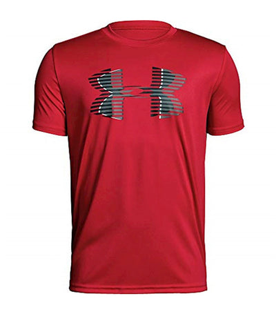 under armour youth ua tech big logo solid t-shirt - red
