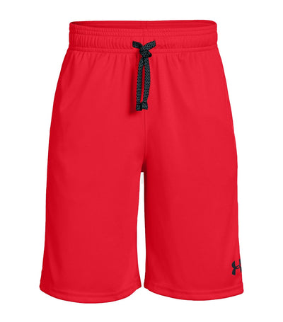 under armour youth prototype wordmark shorts - red