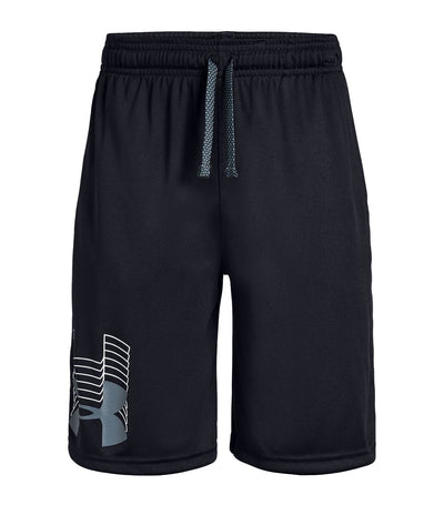 under armour youth short prototype logo - black