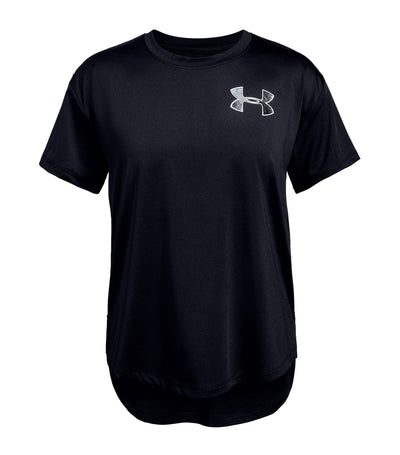 under armour youth heatgear armour short-sleeved t-shirt - black