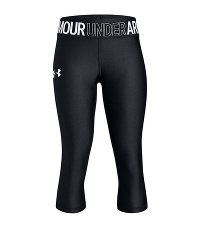 under armour youth heatgear armour capri pants - black