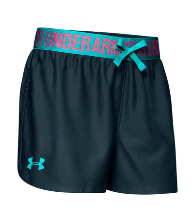 under armour youth play up shorts - tandem teal