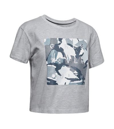 under armour youth rival print fill short-sleeved t-shirt - gray