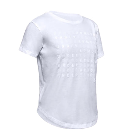 under armour youth branded repeat short-sleeved t-shirt - white