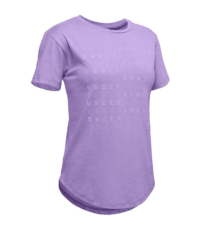 under armour youth branded repeat short-sleeved t-shirt -  flight purple