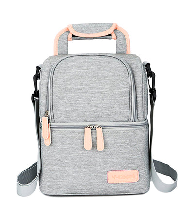 v-coool gray breast pump insulated cooler backpack