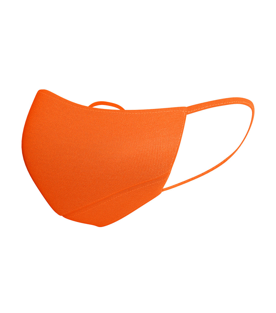 verte neon orange kids premium reusable fabric mask