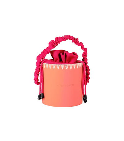 viajecito milvidas splashbucket monochrome coral with stitching