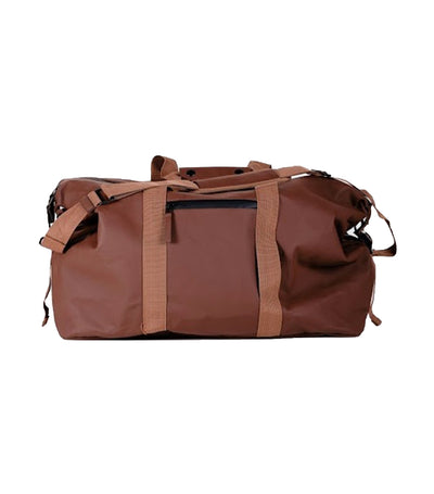 viajecito weekender duffel bag cigar brown