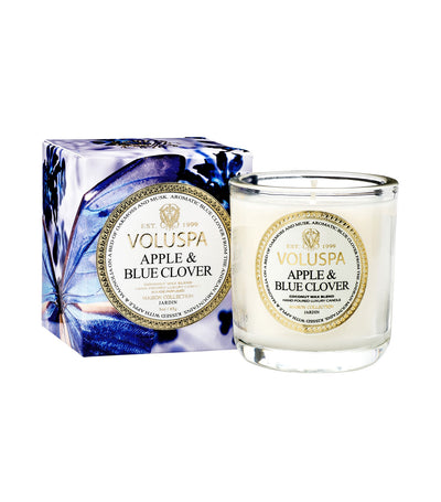voluspa apple and blue clover classic maison votive